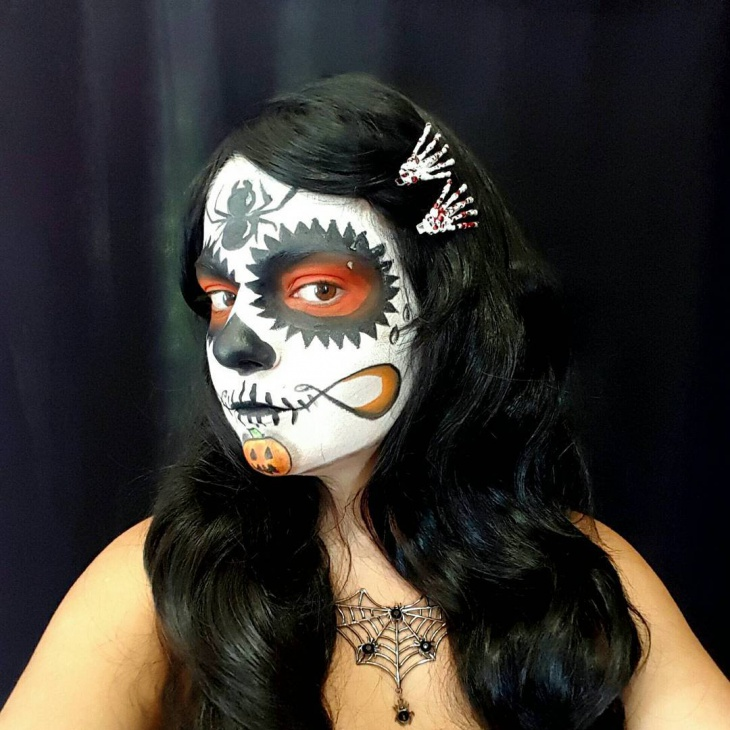 sugar skull makeup design
