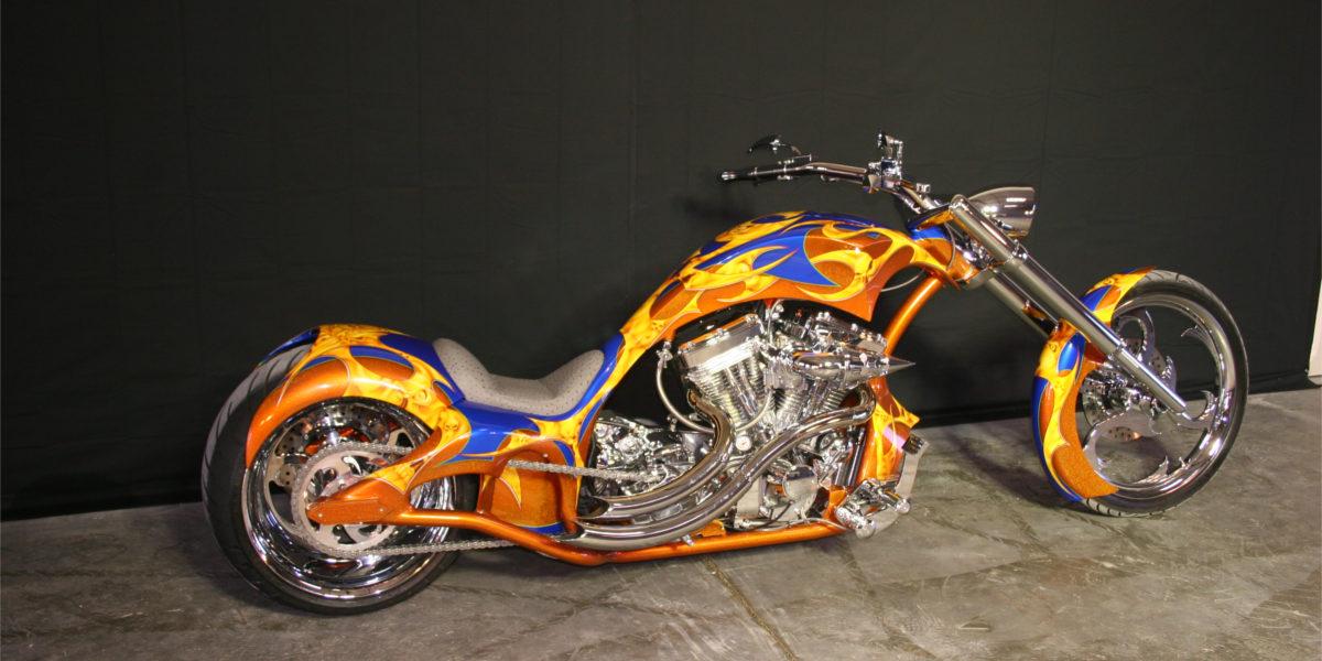 gold plated bms custom chopper