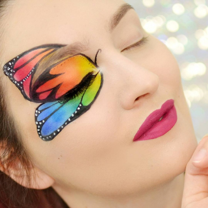 Butterfly Eye Makeup Design