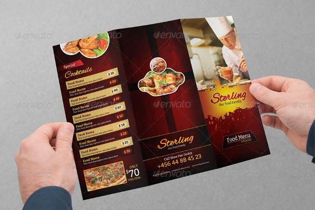 Trifold Restaurant Menu Design