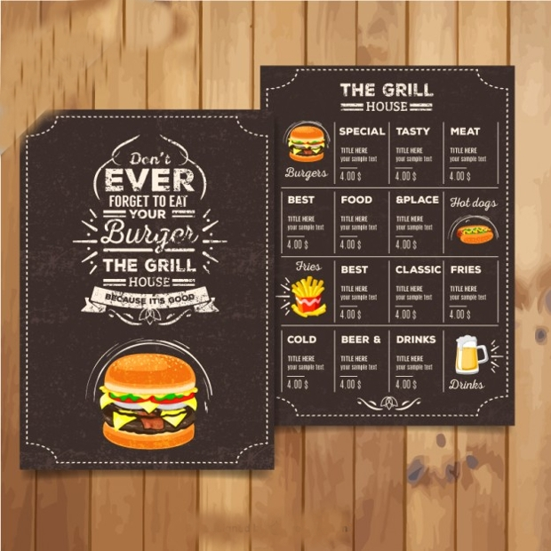 Retro Food Menu
