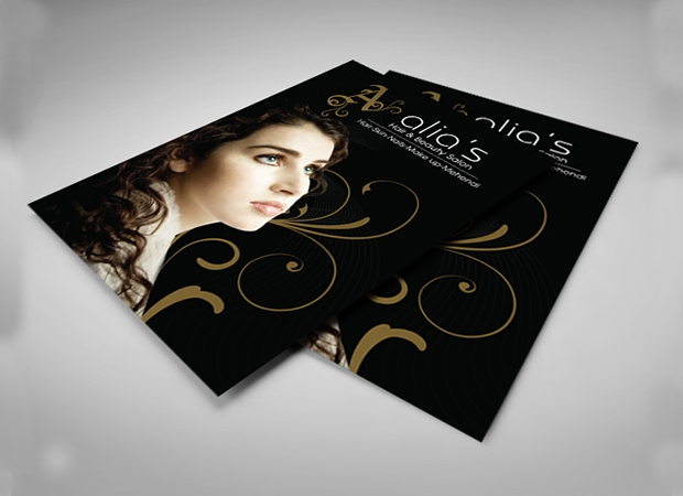 Beauty Salon Menu Design