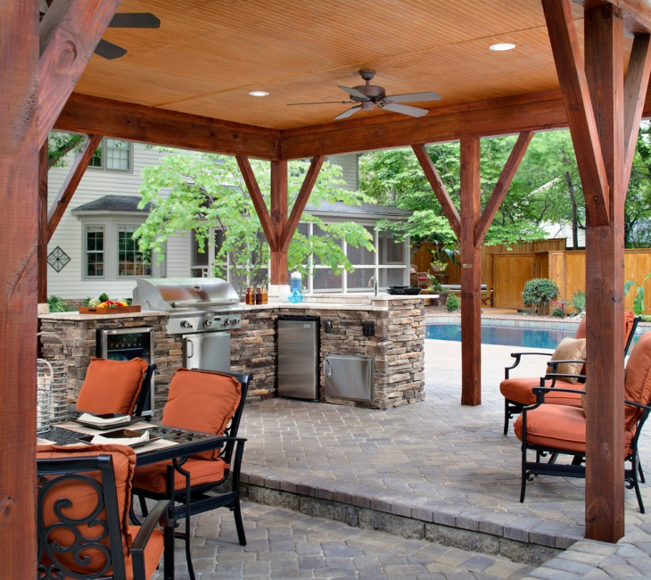 covered outdoor kitchen design