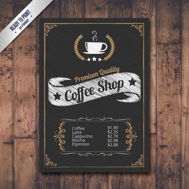 Vintage Cafe Menu Design