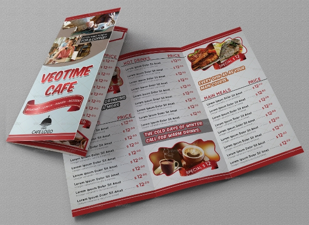 Trifold Cafe Menu