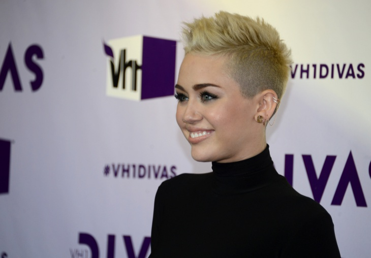 Miley Cyrus Shaved Hair Design for Short Hair