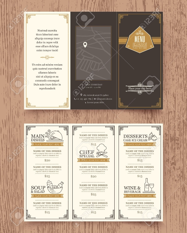 Vintage Restaurent Menu Design