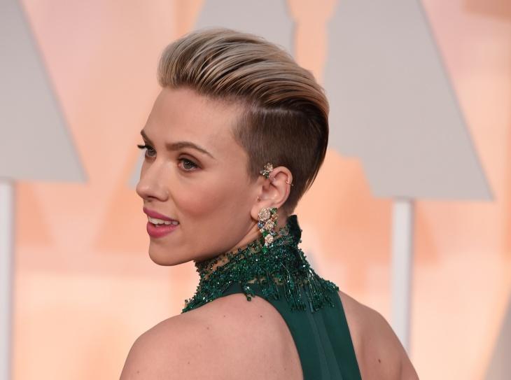Scarlett Johansson Back Shaved Hair Design