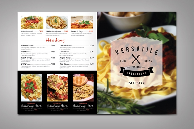 Modern Restaurant Menu Design