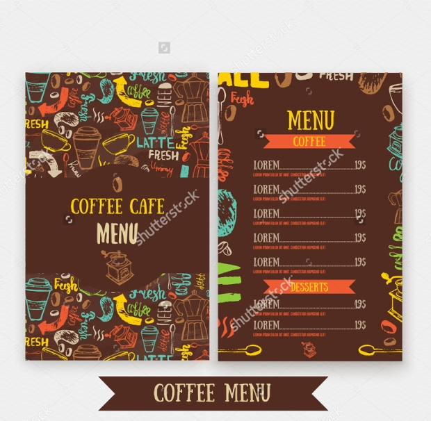 Modern Cafe Menu Design