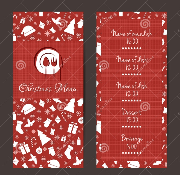 Christmas Festive Menu Design