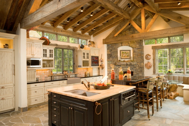 traditional rustic kitchen design