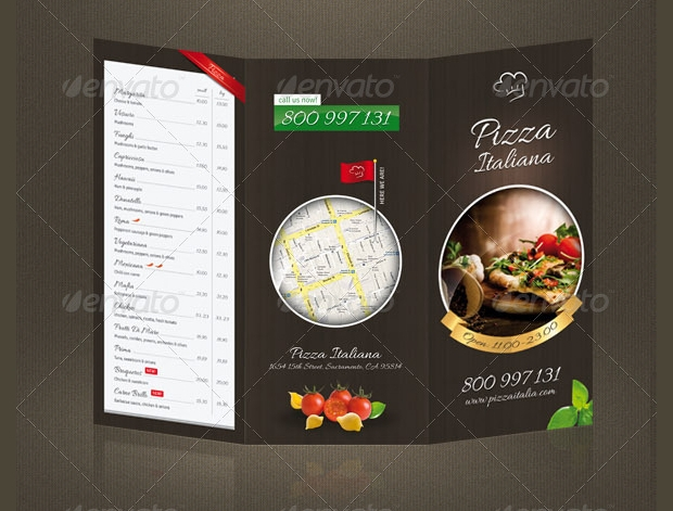 Pizza Restaurant Menu Design