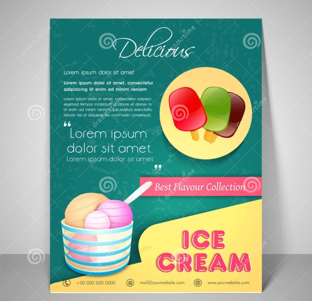 Ice Cream Menu Card Design