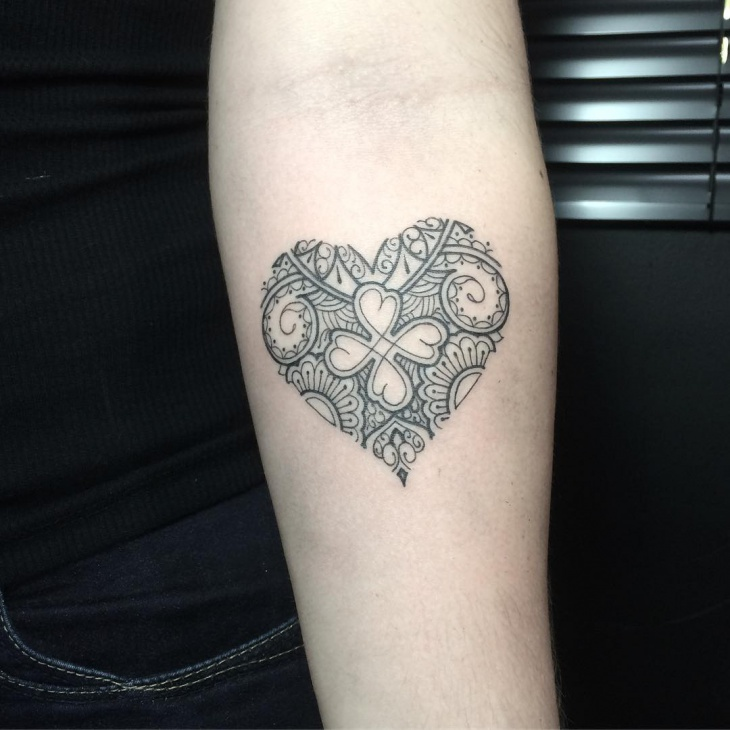 Traditional Heart Tattoo Design