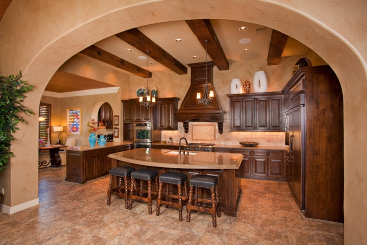 rustic tuscan kitchen design