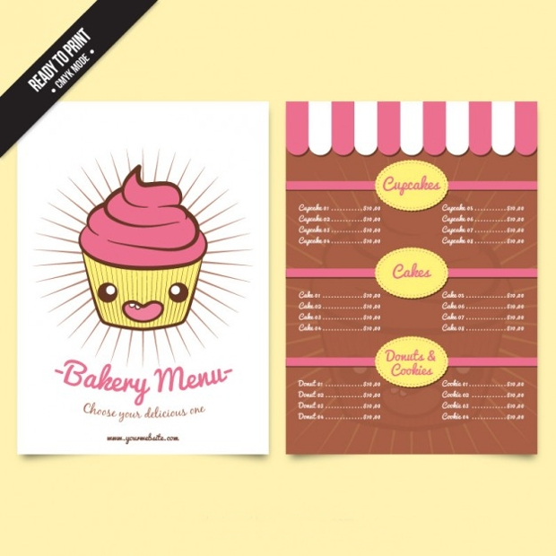 Cupcake Bakery Menu