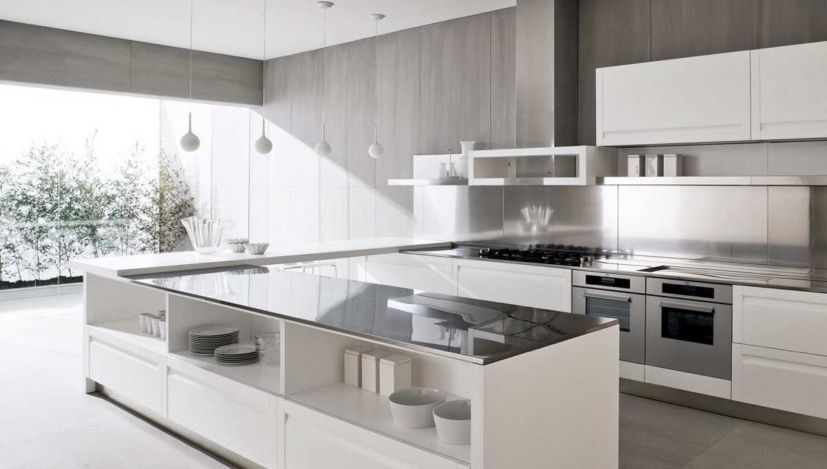 u shaped kitchen design with island