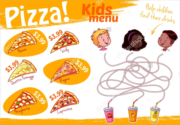 Kids Pizza Menu Idea