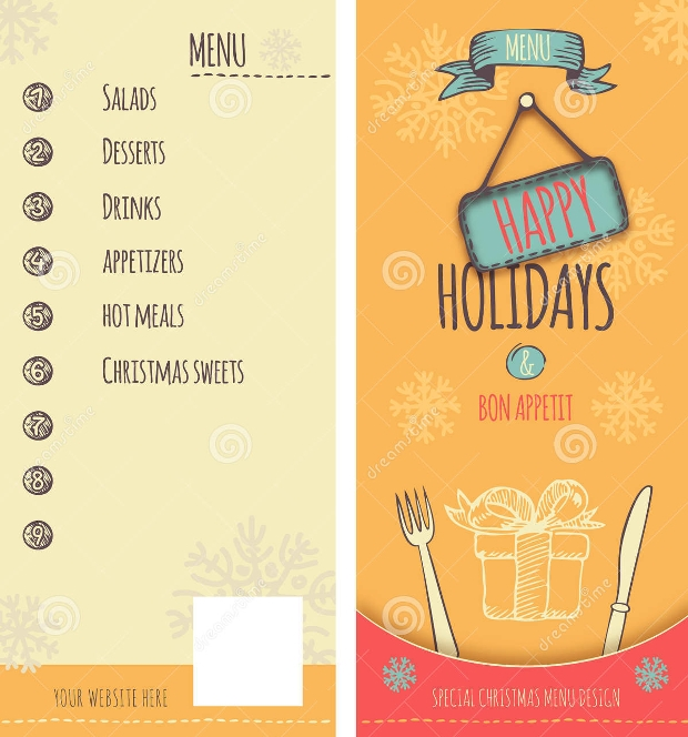 Holiday Christmas Menu Design