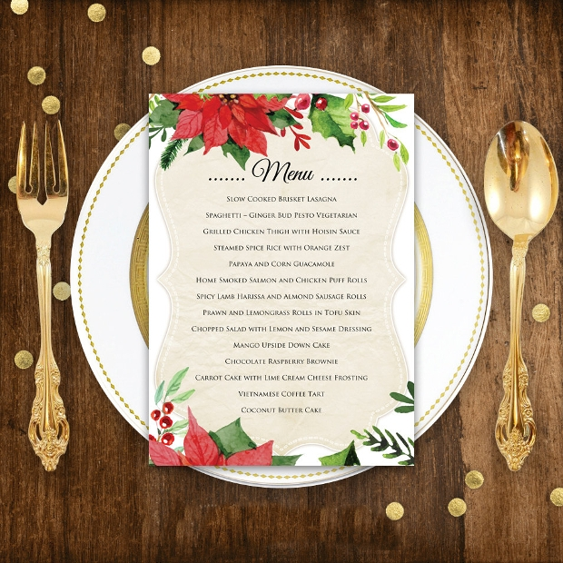 Holiday Dinner Menu Design