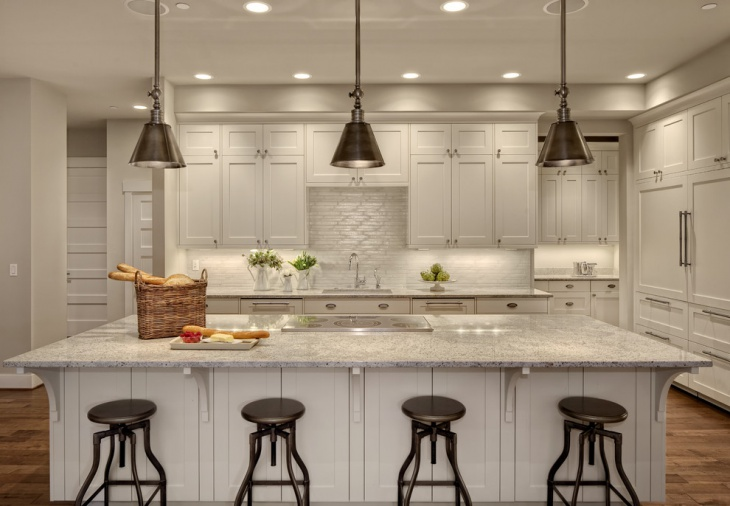transitional kitchen lighting design
