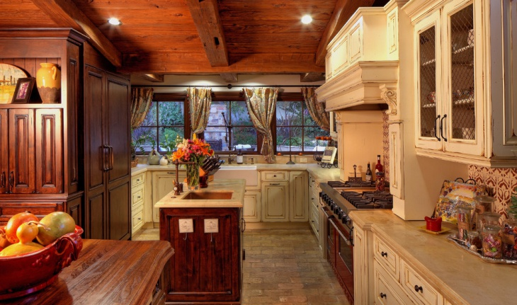 rustic mediterranean kitchen design