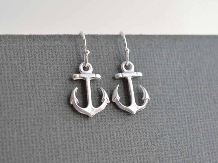 nautical anchor earrings