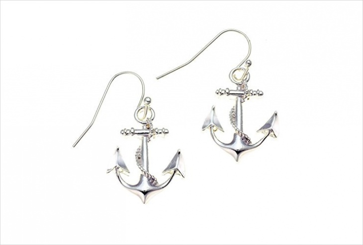 simple anchor earrings idea