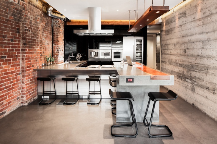 modern industrial kitchen design