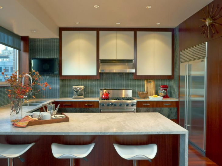 contemporary apartment kitchen design