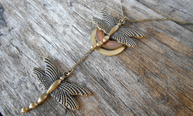 Double Dragonfly Pendant