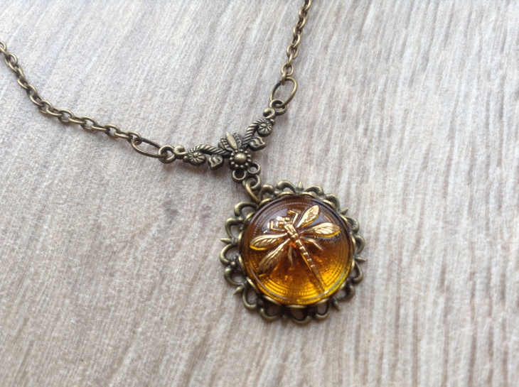 Glass Dragonfly Pendant