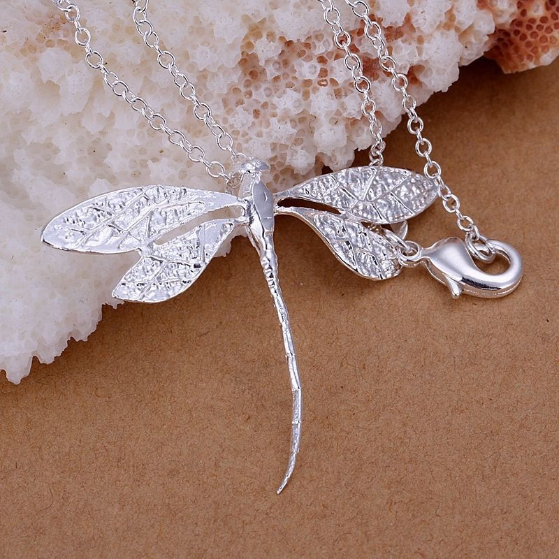 silver charm dragonfly pendant