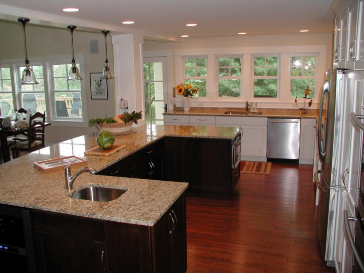 traditional u shaped kitchen design