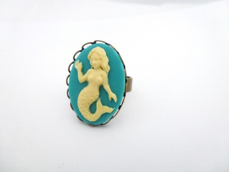 antique mermaid ring