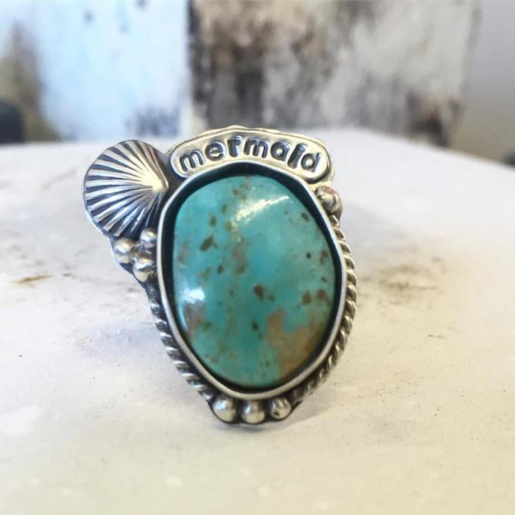 hnadmade mermaid ring idea
