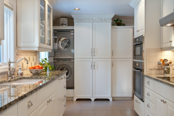 small kitchen laundry room