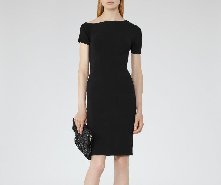 black formal dress design