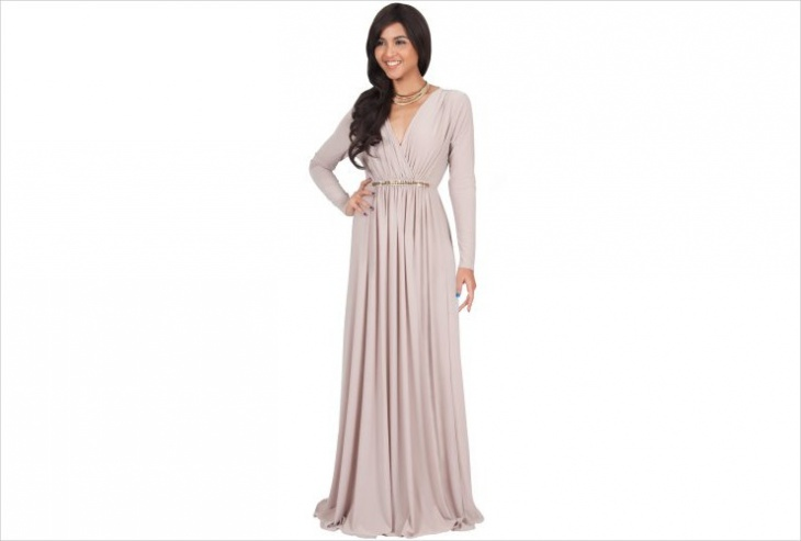 long sleeve maxi dress design