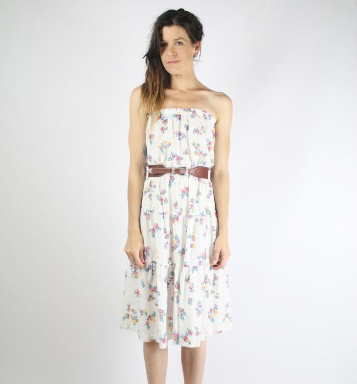 cotton floral dress design