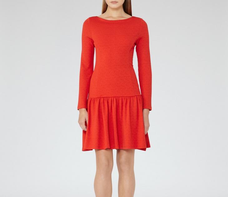 red cocktail dress design