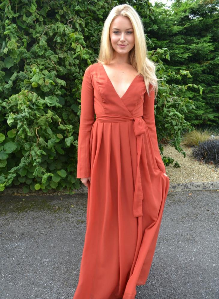 bridesmaid wrap dress design