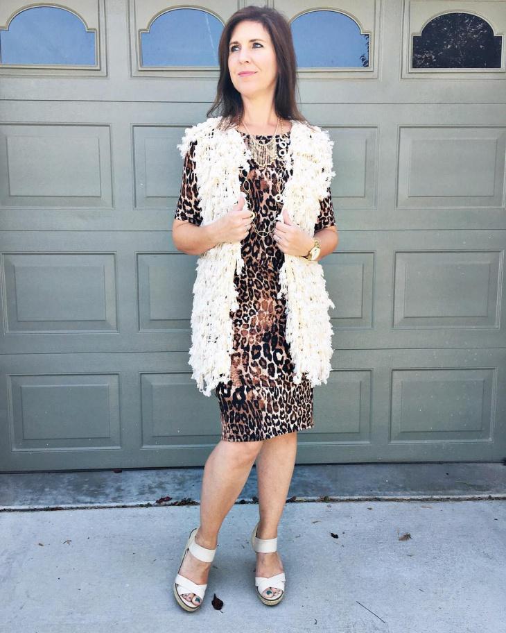 leopard print dress design