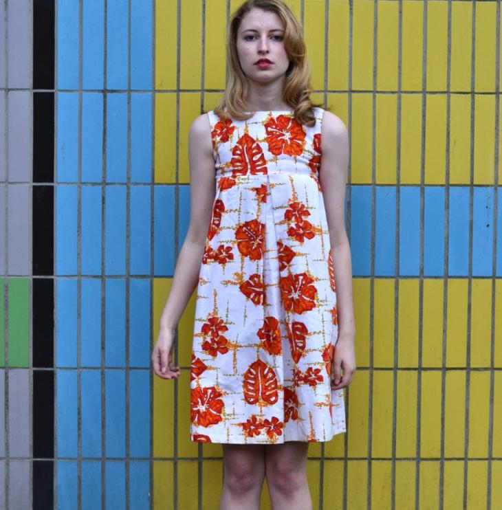 hawaiian print dress design