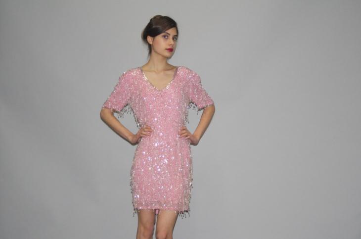 beaded flapper dress design