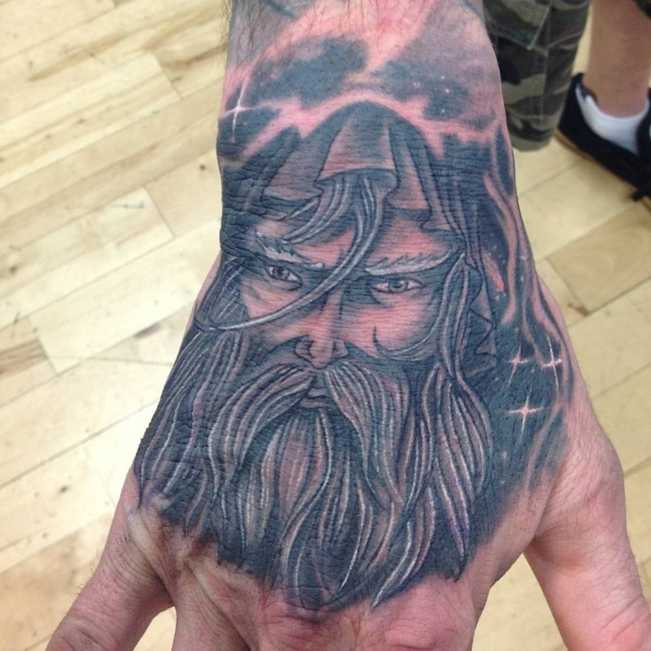 Wizard Tattoo on Palm