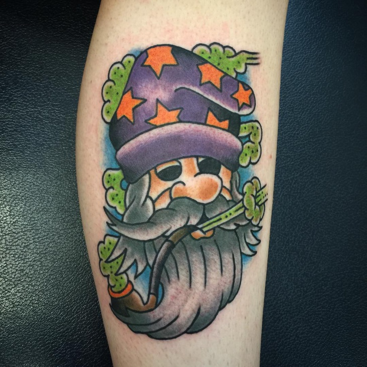Awesome Wizard Tattoo Design