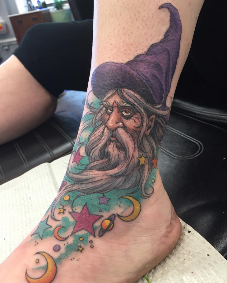 Unique Wizard Tattoo Idea