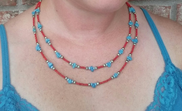 turquoise and coral jewelry design